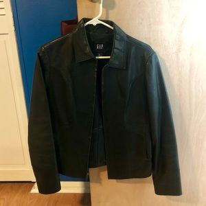 GAP Leather jacket, well cared for. Small